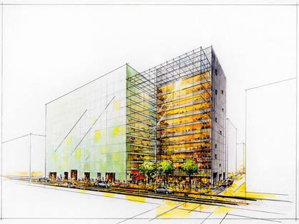 都内商業ビル計画
