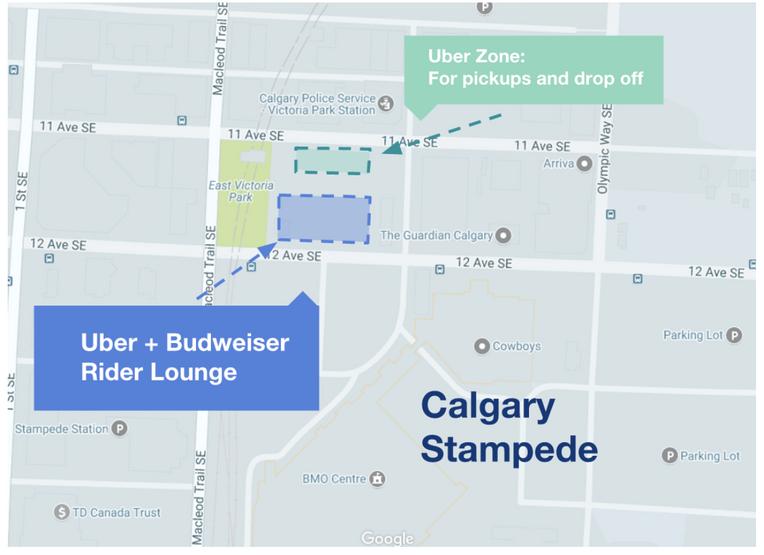 Uber it to Stampede