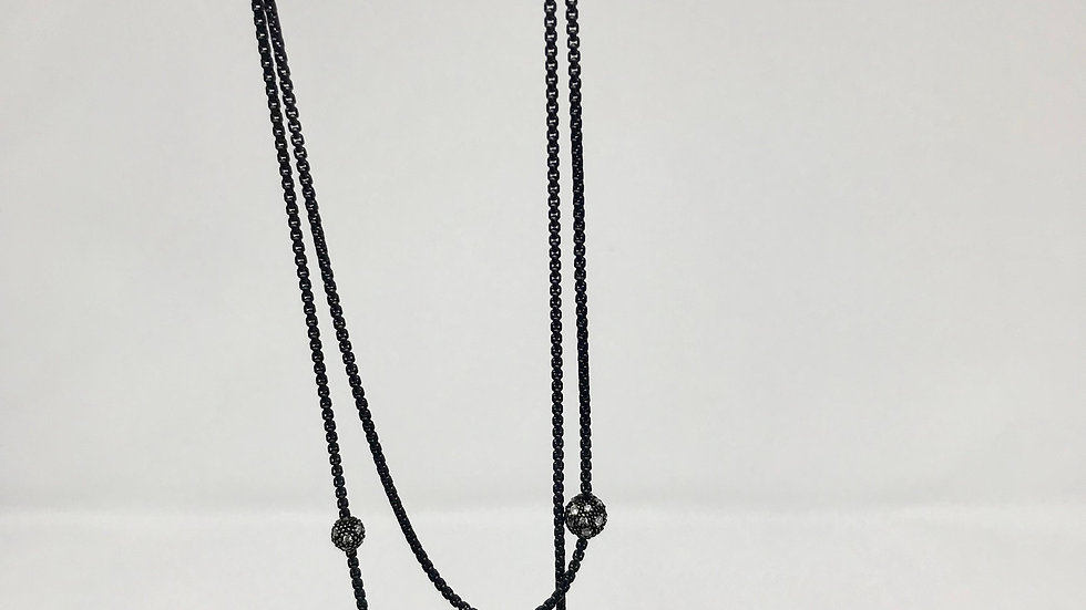 David Yurman station necklace with diamonds 72 inches