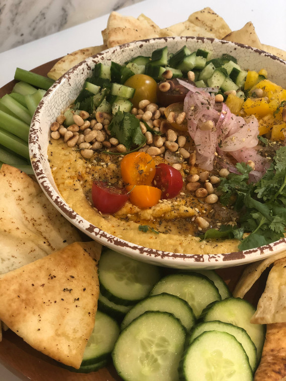 Heavenly hummus bowl