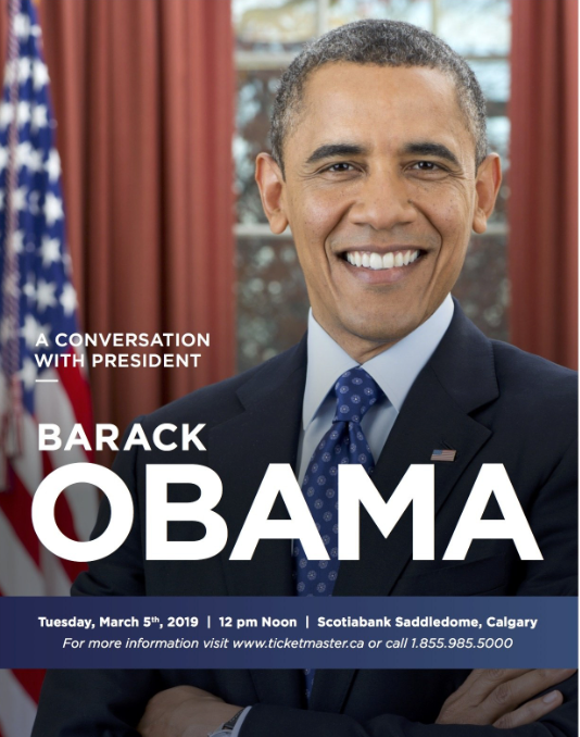Obama coming to Calgary