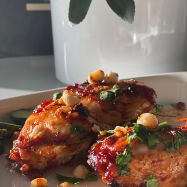 Tamarind BBQ Chicken with Coconut Rice