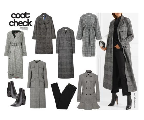Checked coats