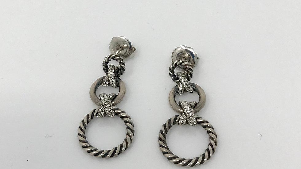 David Yurman earrings with diamonds