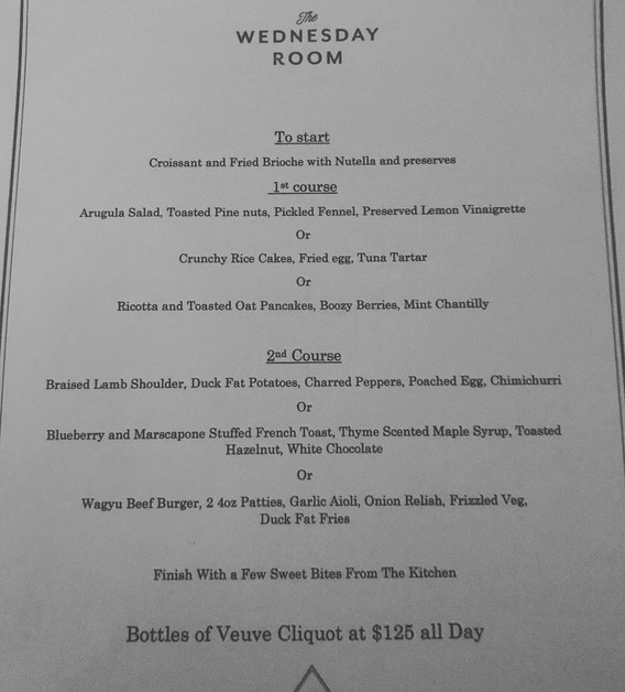 Boozy Brunch at The Wednesday Room