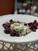 Roasted grapes on Burrata