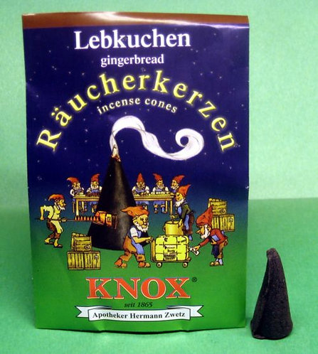 "#014-250 - Famous KNOX Brand ""Gingerbread"" Incense Cones - 5 pc Sample Packet"