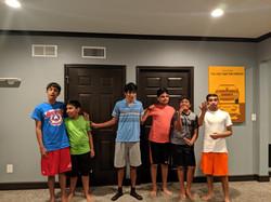 Senior dance group