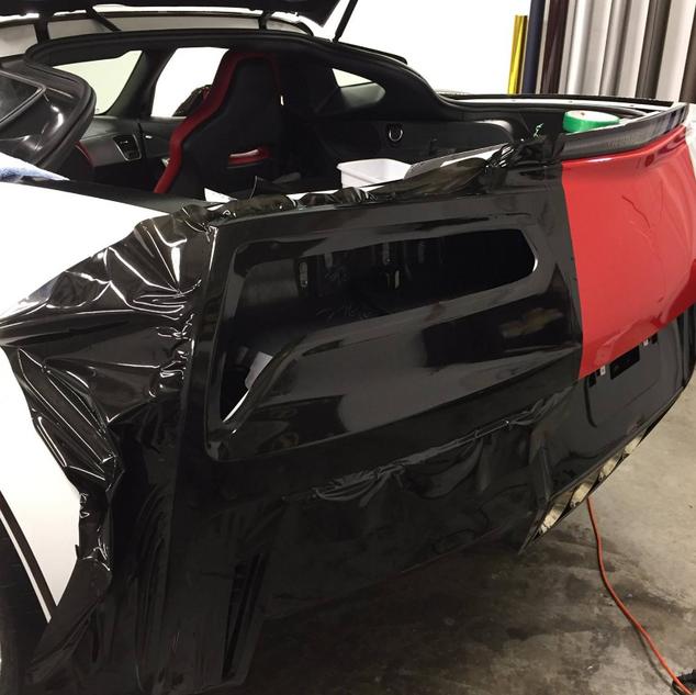 Corvette Wrap with proper methods.