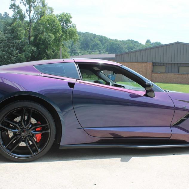 Corvette color change wrap