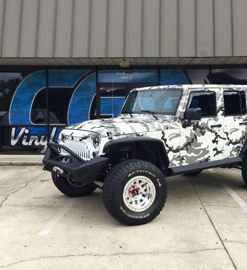 Jeep camo wrap