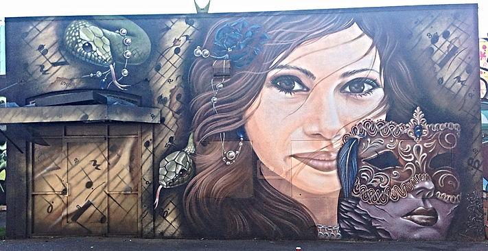 armor graffiti, mural art
