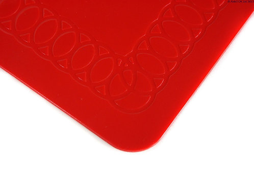 Anti Slip Rectangle Table Mat 25cmx18cm - Red