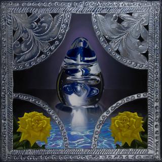 Blue Glass Egg