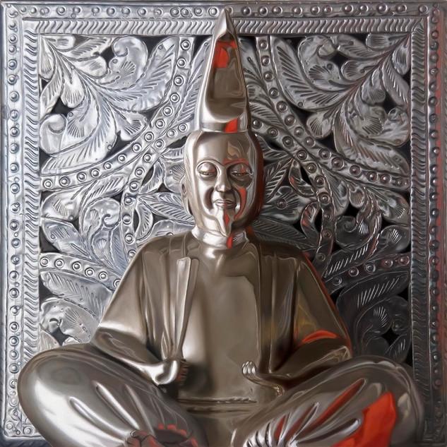 Pewter Buddha