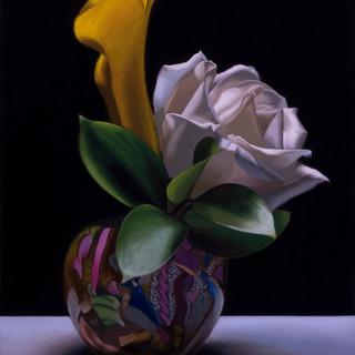 White Rose & Yellow Cala