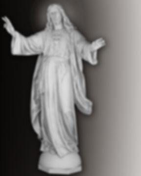 sacread heart statue daprato