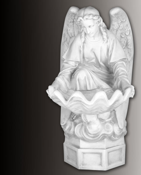 holy water font angel