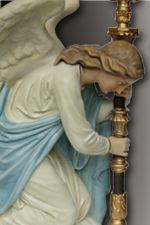 angels holding lights