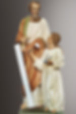 statue of joseph and jesus together