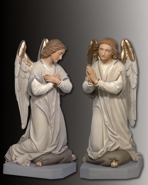 adoring angel statue set