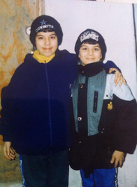 With my brother Orxan El