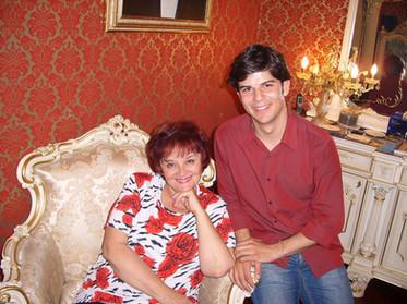 With Tamara Sinyavskaya