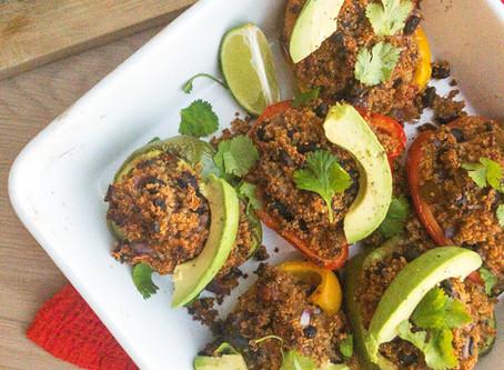 Quinoa Stuffed Spanish Peppers