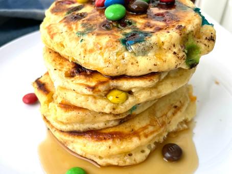 Fluffy M&Ms Pancakes!