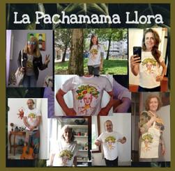 Camisetas y bolsas La Pachamama llora