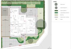 Presentatieplan tuin te Oekene