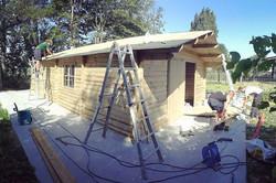Plaatsen van een #garage 🏡 in #hout met