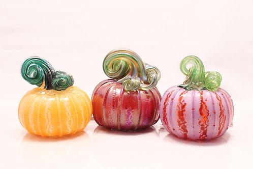 Multi colored pumpkin set