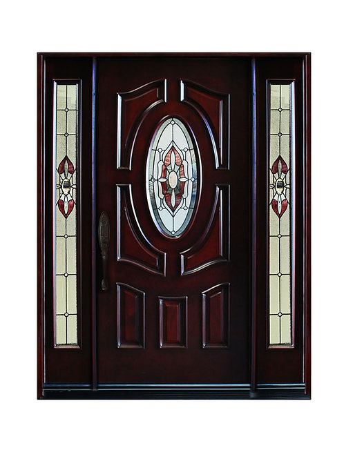 "Exterior Wood Door #Gloria 641/4"" x 81 1/4"""