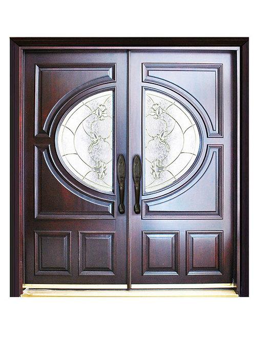 """Exterior Entry Wood Door #M580A  73 1/4"""" x 81"""""""