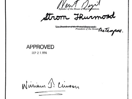 September 21, 1996: Bill Clinton signs Defense of Marriage Act