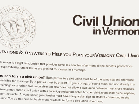 July 1, 2000: Civil unions come to Vermont