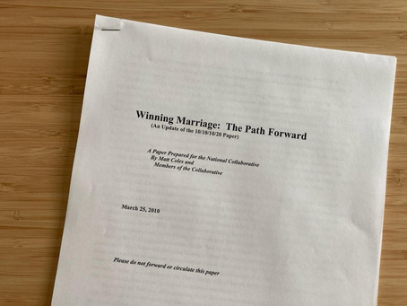 March 25, 2010: Gay-rights operatives revise national marriage strategy