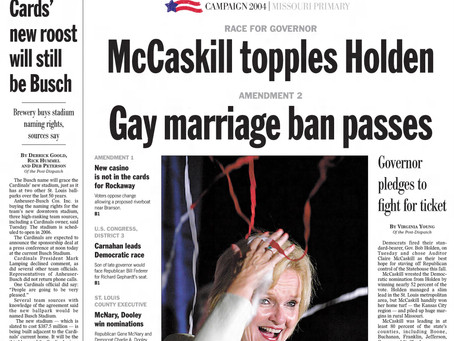 August 3, 2004: Missouri approves 2004's first constitutional ban on same-sex marriage