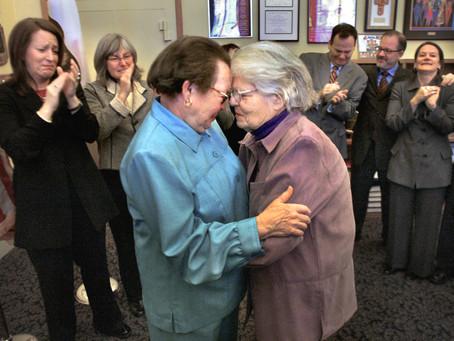 February 12, 2004: San Francisco Mayor Gavin Newsom defies state law with marriage order