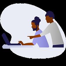 Two Black Men Using Laptop.png