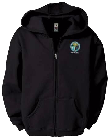 Embroidered Fleece Full Zip Hoodie