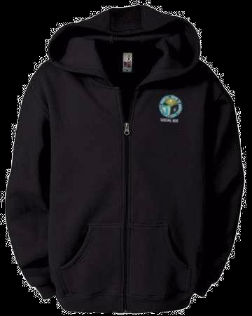 Embroidered Fleece Full Zip Hoodie