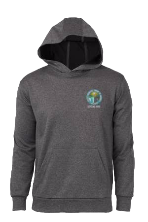 Embroidered Moisture Wicking Pull Over Hoodie