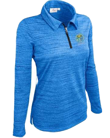 Woman's Embroidered Long Sleeve Quarter Zip