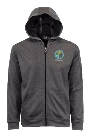 Embroidered Full Zip Moisture Wicking Hoodie