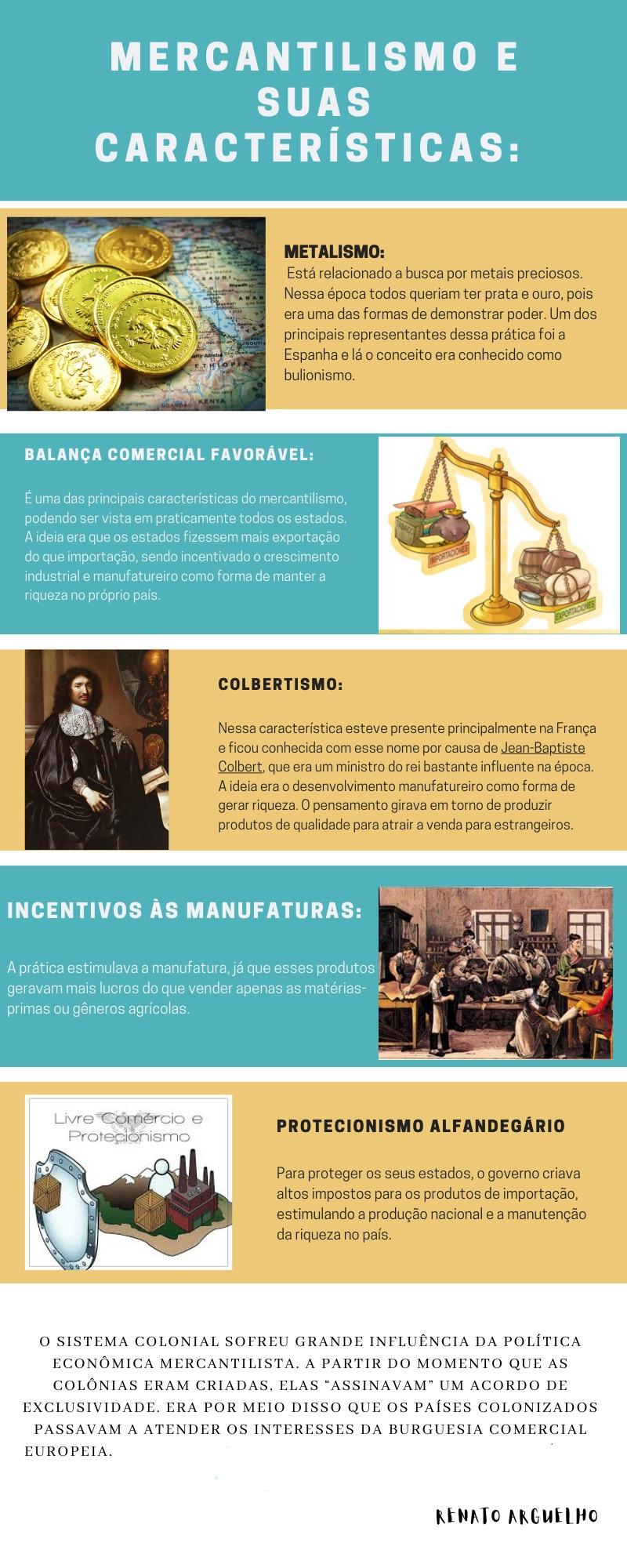 infográfico mercantilismo características
