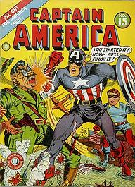 Capa de Revista em Quadrinhos do Capitão América (Marvel, 1942)