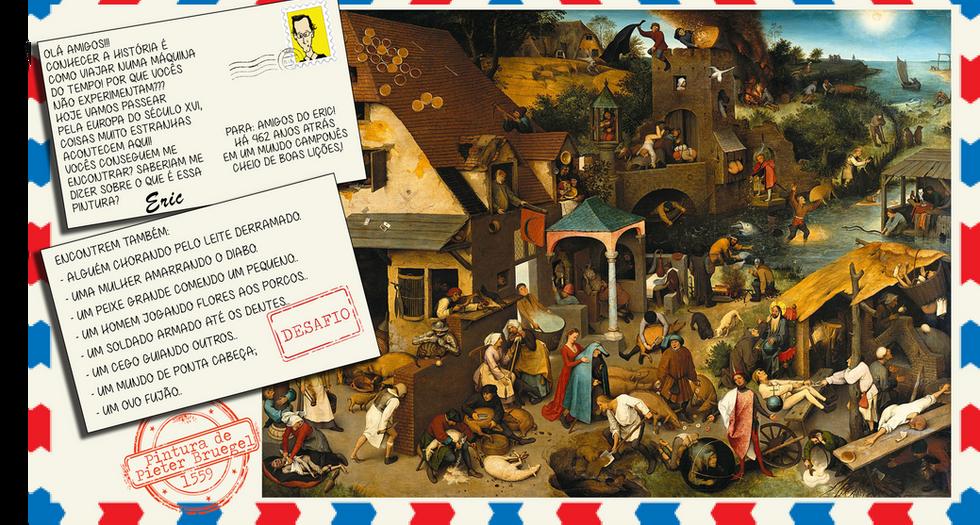 Jogo - encontre os itens na pintura de Bruegel