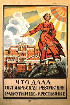 mulheres na propaganda soviética